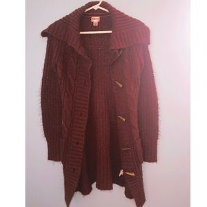Mossimo Supply Co. Sweaters - Chestnut Bohemian Long Button-up Knit Sweater 🍂